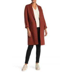 Vince Modern Wool Blend Coat Spice